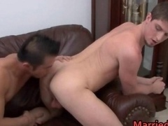 Hot married girl-fella fella ass licking
