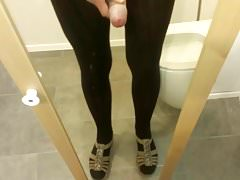 jerking off while wearing pantyhose and sandals from mother