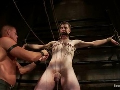 Muscular stud Tyler Saint destroys his BF's ass in BDSM scene