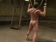 Derek Pain gets bound and tortured by Van Darkholme and other gays