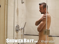 ShowerBait - Mason Lear Catches Tryp Bates with Hard Dick