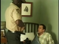 Black stud face-fucks a homo and drills his ass doggy style