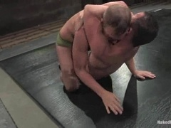 Horny poofs Dustin Michaels and Ty Tucker enjoy banging on a ring