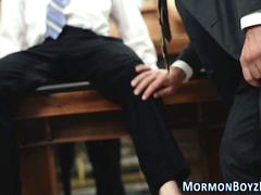 Punished mormon elder ass