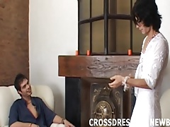 My first time crossdressing was so hot