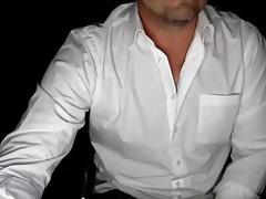 Wall Street Daddy Wanks & Cums On Cam