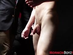 Kinky mormon masturbates