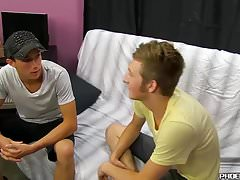 Cute twink seduces straight married dude into hot gay sex