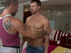 Trace Michaels and Steven Daigle practise massage and make gay love