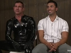 Gianni Luca gets tortured and fucked by latex dominator Nick Moretti