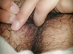 Playing with my hairy ass