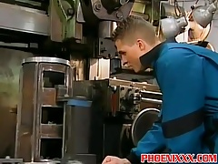Factory hunk workers crazy wild and rough gay sex orgy