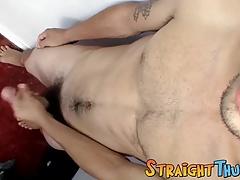 Butt muncher Devin Reynolds caresses his fat schlong