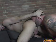 Buff straight hunk banging tight asshole