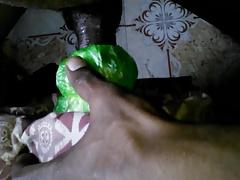 Desi Boy Sex with plastic bag