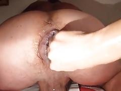 Fisting a Puffy Man Cunt