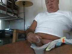 grandpa cum on webcam