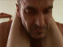 Hairy man fucks his bitch raw