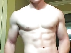 Ginger Muscle Boy Jerks Off & Cums Again!