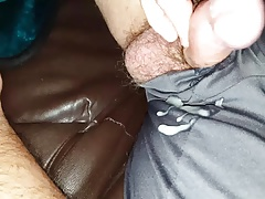 wanking a small cumshot from my small cock