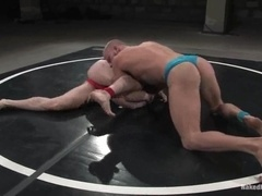 Dean Tucker gets his mouth and ass smashed by bald gay Luke Riley