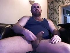 Very handsome bear cumming hard