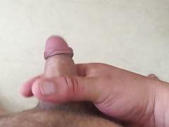 POV stroking my little uncut cock