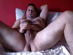 Very handsome bear wanking at hotel