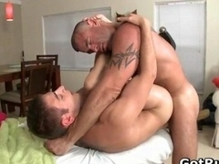 Massage adept in deep anal wrecking man-loving