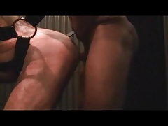 muscle daddy bareback fucked by bbc at bathhouse sling