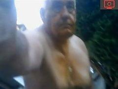 grandpa in the yard
