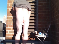 Joey D long outdoor vid anal & cum-shot curvy butt
