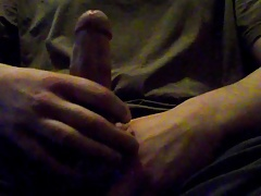 Edging my cock, moaning, precum, and intense orgasm
