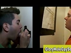 Gay straight glory hole blowjob