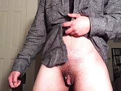 Jacking Off My Dick Wet With Precum