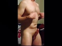 Dancing white cock