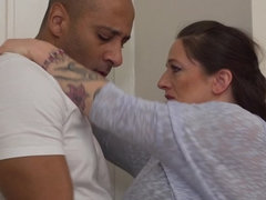 horny housewife Adrienne goes interracial