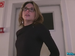 Public Agent (FakeHub): French Tourist Fucked in Public Stairwell