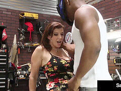 Love goddess Sara Jay Gives crazy Mechanic A hot Fuck Session!