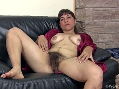 Fun interview and stripping with hairy Mercedez