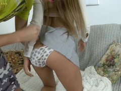 Raunchy Humping With Sweet Young Cutie