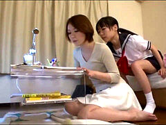 asian student tempts Helpless Housemom 1
