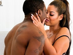 Spanish sex doll with big boobs Bridgette B jumps on a black dick