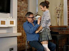 russian  flattie school girl fuck hot