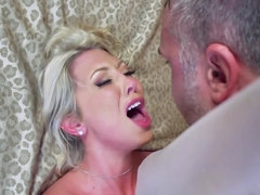 Busty blonde milf gets banged on her wedding day