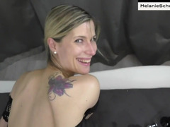 Slender MILF analyzed and left with cum on perky tits
