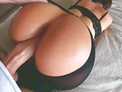 Hot inexperienced MILF in sexy lingerie gets fucked in doggystyle