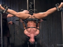 Slim MILF india summer tortured in bondage with gagging, tickling and toys