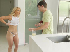 Stepmom Laura Bentley fantasizes about her stepson's huge dick