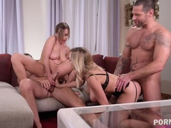 Josephine and Siya Jey fulfill their dirty dp desires in a swingers party GP1327